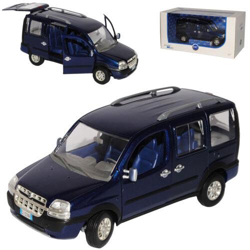 Fiat Doblo Malibu Blau 2000-2010 1//24 Norev Modell Auto mit oder ohne individi..