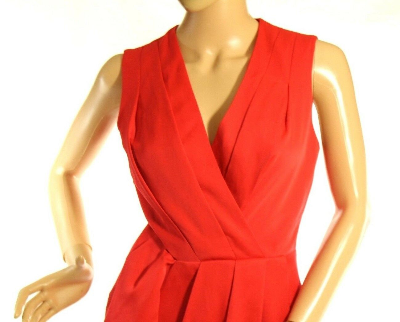 Rachel Roy Women's Red Faux-Wrap Cutout Sleeveless Dress Size 0 Retail