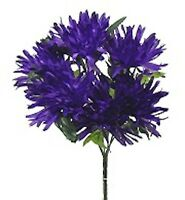 36 Fuji Mums Purple Silk Flowers Bush Wedding Bouquet Party Centerpieces