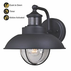 Image Is Loading 10 034 Black Nautical Outdoor Wall Light Dusk