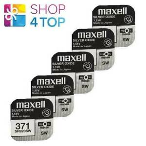 5-MAXELL-371-370-SR920SW-BATTERIES-SILVER-1-55V-WATCH-BATTERY-EXP-2022-NEW