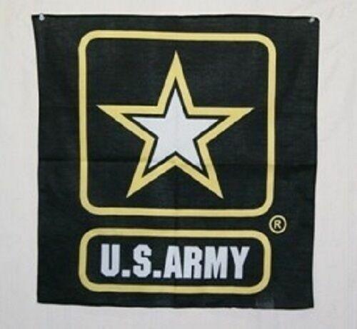 "Army Strong Star Military Bandana 22/""x22/"" Black U.S"