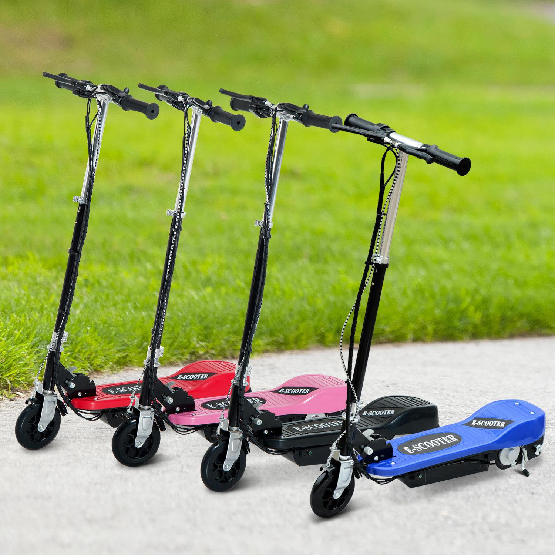HOMCOM ElektrGoldller E-Scooter Kinderroller Tretroller Cityroller 4 Farben