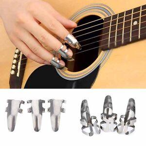 brand new 3pcs stainless steel finger guitar pick plectrum suitable for bass ebay. Black Bedroom Furniture Sets. Home Design Ideas