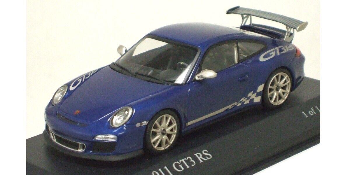 Muy Raras Porsche 911 GT3 RS 997 II 2010 Aqua Azul Metálico 1 43 Minichamps