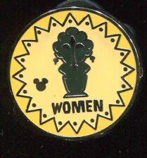 DLR 2017 Hidden Mickey Signs Enchanted Tiki Room Womens Restroom Disney Pin