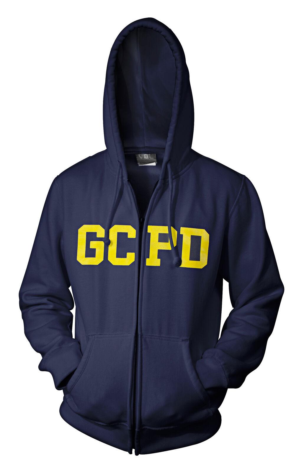 DC Gotham City Police Department  Cadete Con Capucha Sudadera Cremallera  de moda