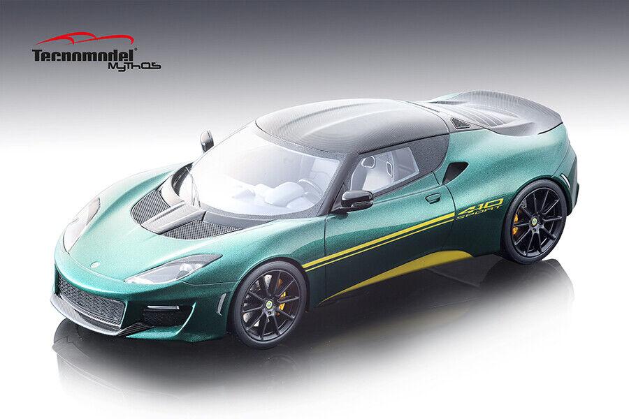2017 Lotus Evora 410 IN Metálico verde 1 18 Escala por Tecnomodel