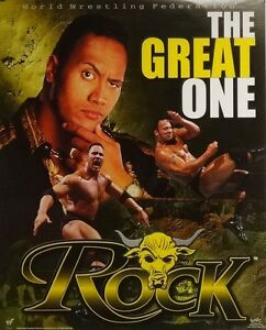 Details About The Rock Great One 16x20 Wwe Wwf Poster 2000 Dwayne Johnson