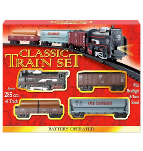 New Classic Train Set Toy With Tracks Light Engine Battery Operated Kids/' Gift