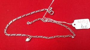 Fine Anklets Bracelets Ankle Solid Silver Heart Ref42152 Smoothing Circulation And Stopping Pains Jewelry & Watches