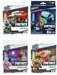 Nerf Fortnite Micro Shots Mini Blaster - Rainbow Smasher, RL, TS, Micro Llama,