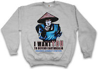 I Want You Raiden Sweatshirt Mortal Scorpion Mk Game Kombat X Vg Sweat Sweater