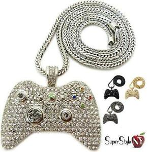 New xbox 360 game controller crystal pendant iced out hip hop image is loading new xbox 360 game controller crystal pendant iced aloadofball Choice Image