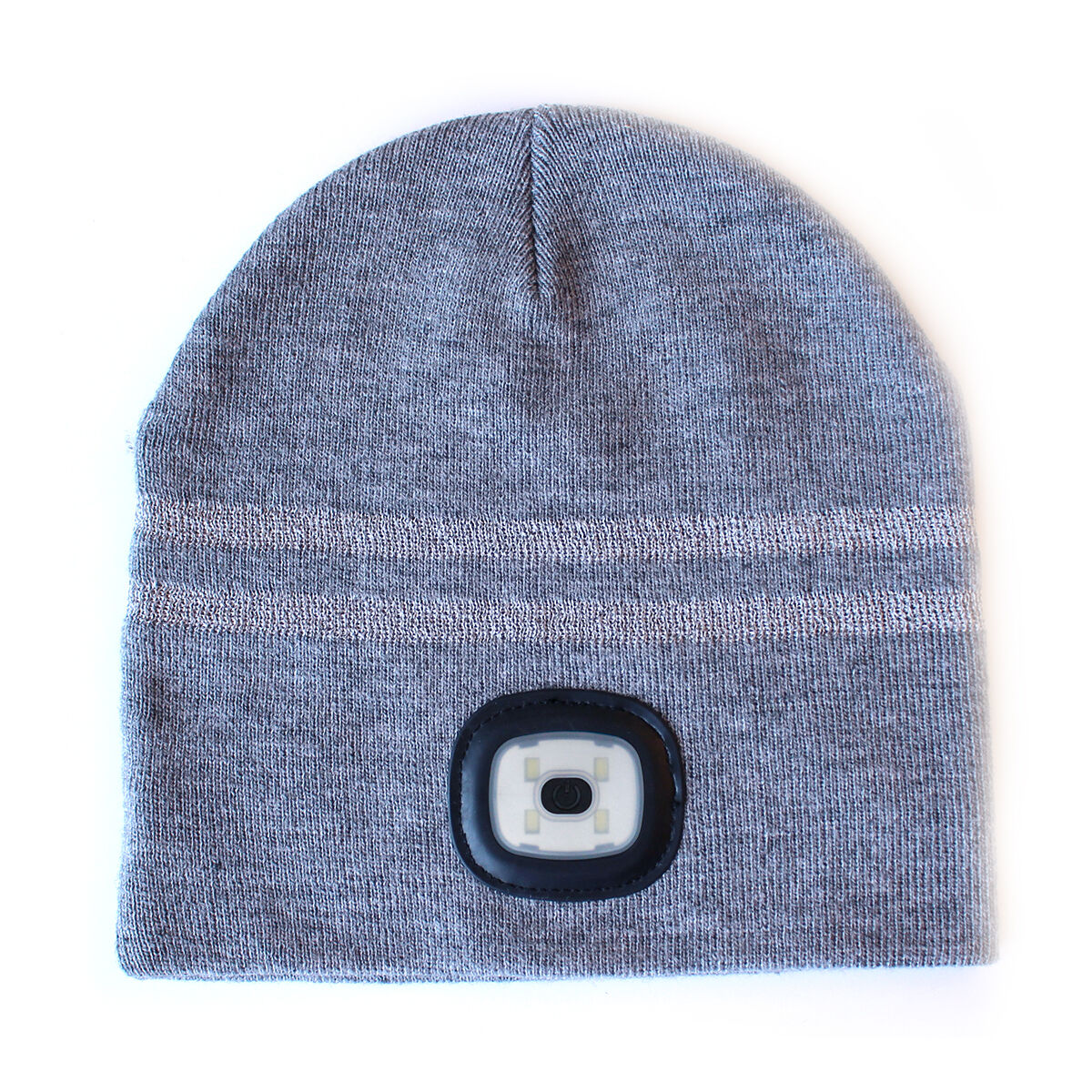 2 x Warm USB Headlight Hat X-Cap Integrated LED Grey Camping Walking Running