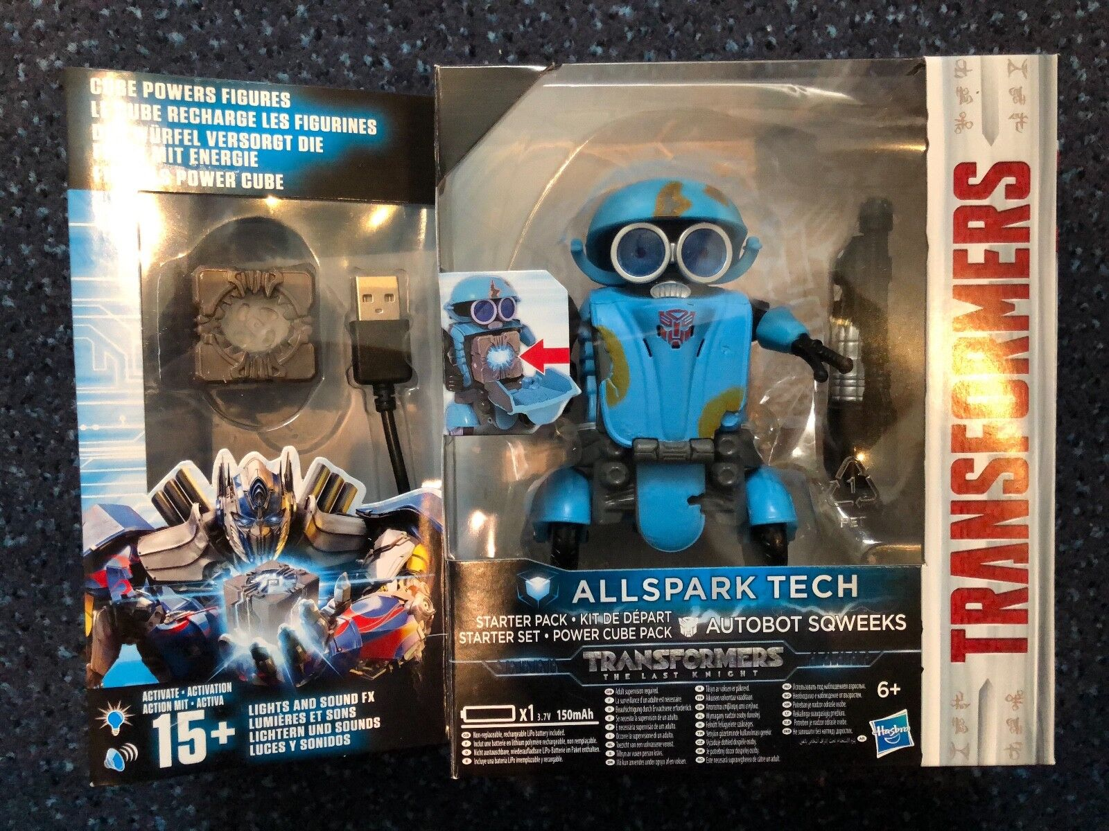 Transformers 5 The Last Knight - Autobot Sqweeks Power Cube Starter Set NEW
