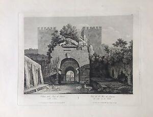 ITALIA-ROMA-ARCH-OF-DRUSUS-grab-original-de-Achille-e-Pietro-Parboni-ca-1830