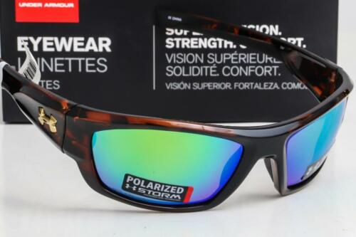 NEW UNDER ARMOUR FORCE SUNGLASSES Tortoise frame Green Mirror STORM POLARIZED