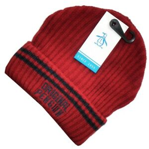 fb40d9e21d9 Image is loading ORIGINAL-PENGUIN-Mens-Ribbed-Knit-Solid-Winter-Beanie-