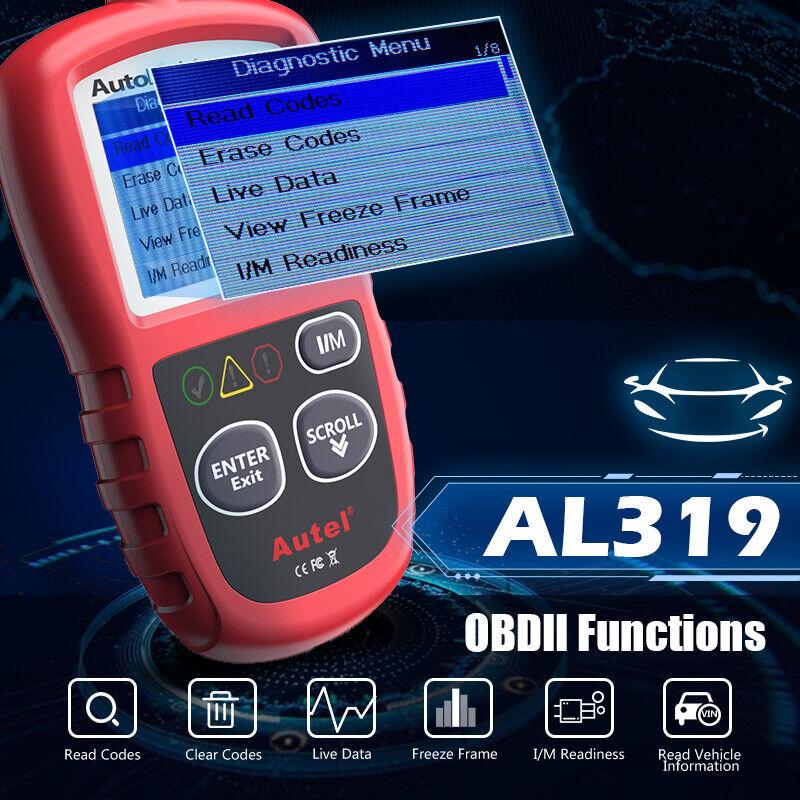Autel Autolink AL319 OBD2 CAN OBDII Auto Car Code Reader Diagnostic Scanner Tool 2