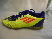 Adidas Fluorescent Yellow and Purple Indoor F50 Soccer Shoes Mens Sz 5 / 37.3 EU