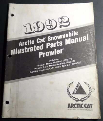 1992 ARCTIC CAT PROWLER SNOWMOBILE PARTS MANUAL PN 2254740 128