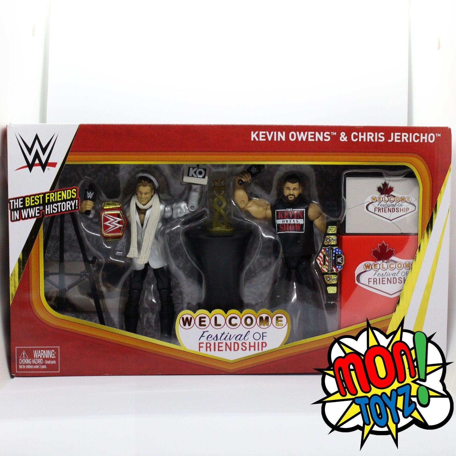 WWE Chris Jericho & Kevin Owens Festival Of Friendship Elite Action Figures