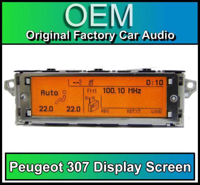 Peugeot 207 display screen RD4 car stereo radio LCD Multi function clock dash