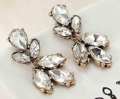 Newest design women gorgeous bib statement mixed crystal long Earrings 548
