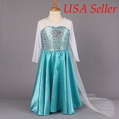 Elsa halloween costume Frozen Party Dress Princess Elsa inspired Dress 10125