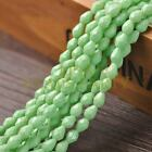 New Arrival 30pcs 8X6mm Faceted Teardrop Loose Spacer Glass Beads Mint Green