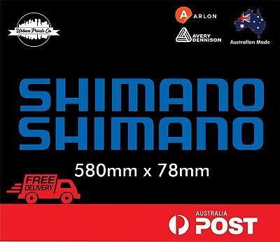 4 x 125mm SHIMANO fishing boat,tinny marine,car,4x4 stickes decals 26 colours!