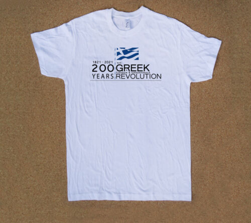 200 Years 1821-2021 since Greek Revolution for Freedom /& Independence T shirt