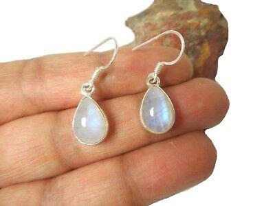 Handmade 925 Sterling Silver Moonstone Tear Drop Earrings 27 x 7 mm Gift Bag