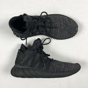 best service 1d7a1 ac797 Details about Adidas Womens 8 Tubular Dawn Running Metallic Black BZ0629 E7
