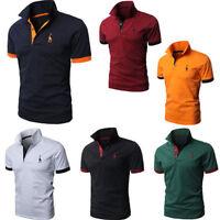 Neu Herren Polohemd Freizeit Poloshirt Kurzarm Tee Shirts Fit Hemd Gr M L XL XXL