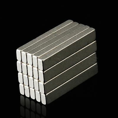 Block Cuboid Bar Lot Strong Magnets N35 Rare Earth Neodymium 30 x 5 x 3mm 20PCS