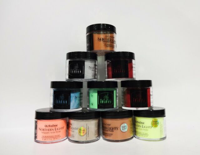 INM Holographic Glitter Acrylic Nail Powder Assorted Choice 1.5oz/42g