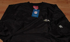 Baltimore-Ravens-Pullover-Large-Reebok-Black-NFL-Embroidered-Logos