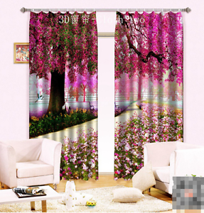 3D claro Bloom Cortinas de impresión de cortina de foto 3 Blockout Tela Cortinas Ventana Reino Unido