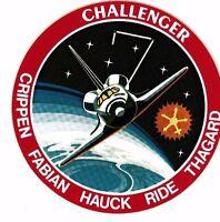 Challenger Vintage Sticker Crippen - Fabian - Hauck - Ride - Thagard - Nasa Rare