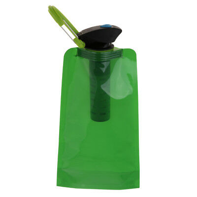 BPA Free Durable Foldable Flexible Water Bottle with Filter-ABS Plastic