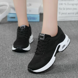Women-039-s-Fly-Knit-Sneakers-Casual-Running-Shoes-Air-Cushion-Sports-Gym-Athletic