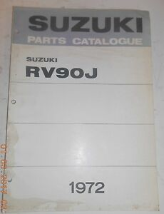 1972 72 suzuki rv90j rv 90 j parts catalog shop service repair rh ebay ie Appliance Repair Service Manuals Manufacturers Auto Repair Service Manuals