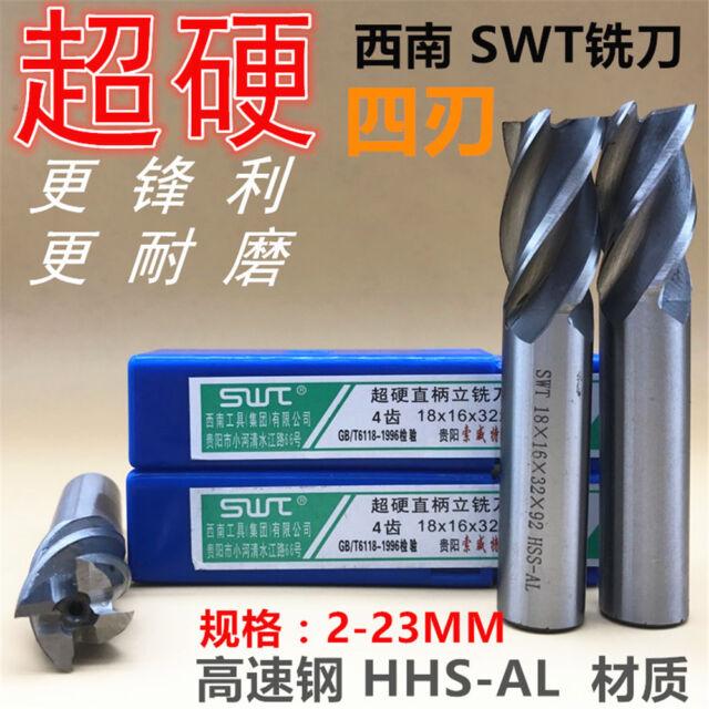 1Pcs SWT 4 Flute HSS  End mill D4*6*11*55 Drill Bit
