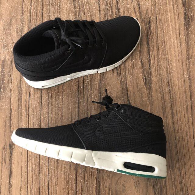 A895 Nike SB Stefan Janoski Max Mid 807507 003 Black Skate Shoes Size 8 NEW