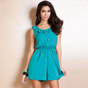 Lili-Size-12-Women-039-s-Green-Designer-Fashion-Playsuit
