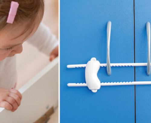 Child Baby Safety Door Cabinet Drawer Lock Rail Cabinet  Wardrobe Lock Latch