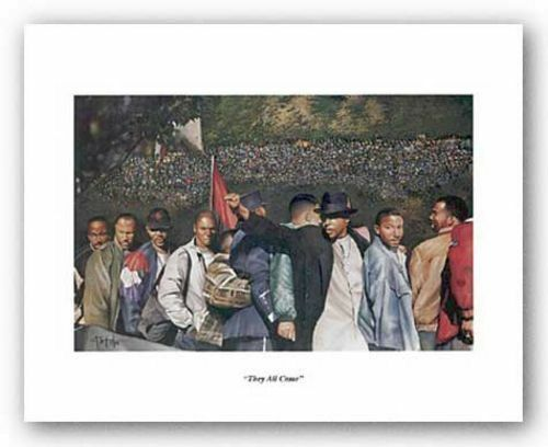 They All Came Million Man March Tim Hinton African American Art Print 8x5