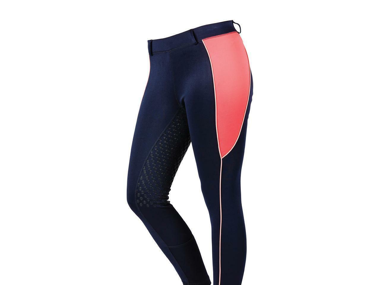 Dublin Performance Flex Zone Riding Tights - Navy Pink   classic fashion